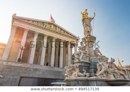 The Austrian Parliament and Athena Fountain in Vienna, Austria Stock photo © vladacanon