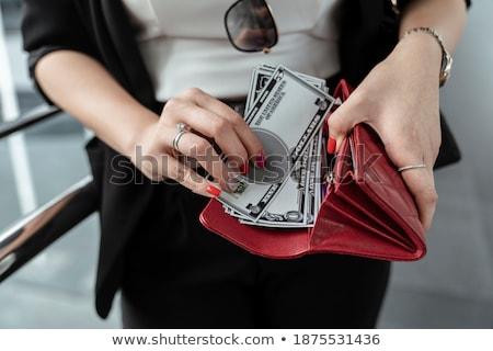 Kobieta dolarów kieszeni młoda kobieta dziewczyna kobiet Zdjęcia stock © wavebreak_media