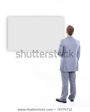 бизнесмен · оружия · сложенный · белый · лице · Sexy - Сток-фото © wavebreak_media
