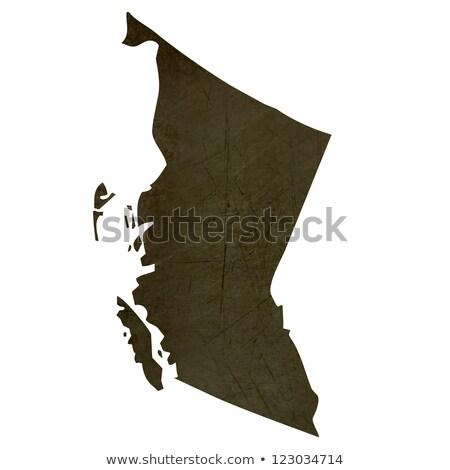 Dark silhouetted map of Columbia Stock photo © speedfighter