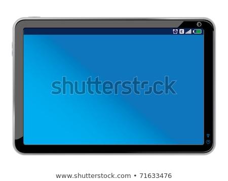 Touchpad isoliert weiß Original Design Stock foto © fotoscool