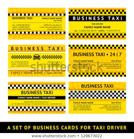 Business card taxi - sixth set stock photo © Ecelop