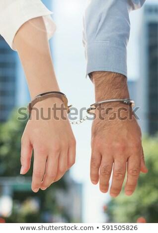 Businesspeople handcuffed together Stock photo © wavebreak_media