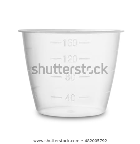Plastik ölçmek fincan yalıtılmış sıvı Stok fotoğraf © JohnKasawa