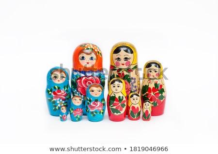 Kicsi fából készült babák szeretet kezek fa Stock fotó © ekapanova