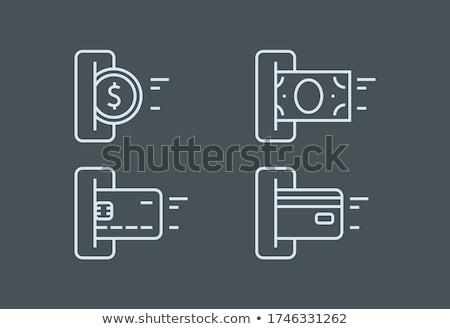 Lector detalles Internet bancario verde clave Foto stock © manfredxy