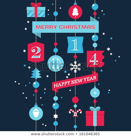 Template vector brochure New Year 2014 colorful design Stock photo © bharat