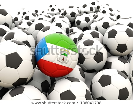 Flag of equatorial guinea with football in front of it Stock photo © MikhailMishchenko