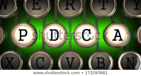 PDSA on Old Typewriter's Keys. Stock photo © tashatuvango