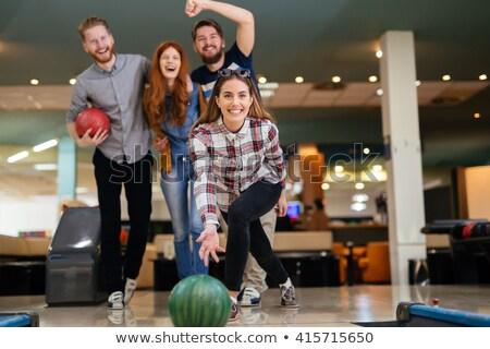 Giovani donne giocare palla da bowling sport divertimento palla Foto d'archivio © Jasminko