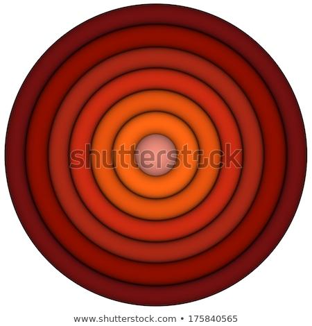 Rendu 3d concentrique tuyaux multiple orange résumé Photo stock © Melvin07