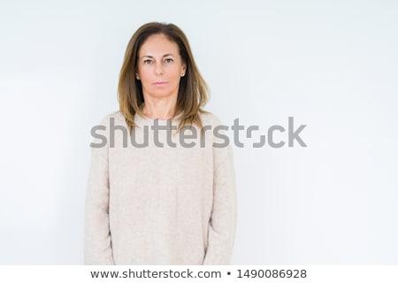 Ciddi olgun kadın olgun çekici kafkas kadın Stok fotoğraf © elvinstar