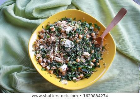 Büyük çanak taze sebze salata ahşap karışık Stok fotoğraf © jeliva
