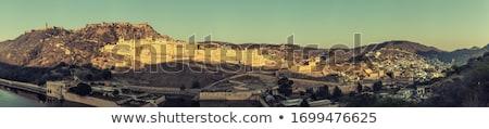 ünlü kehribar kale sabah ışık doku Stok fotoğraf © meinzahn