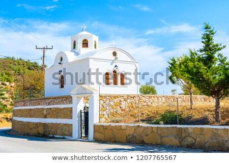 the village aperi on karpathos island greece stock photo © haraldmuc