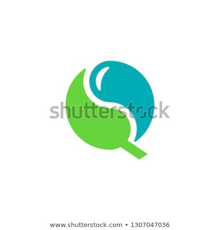 Ying Yang icon in flat style Stock photo © gladiolus