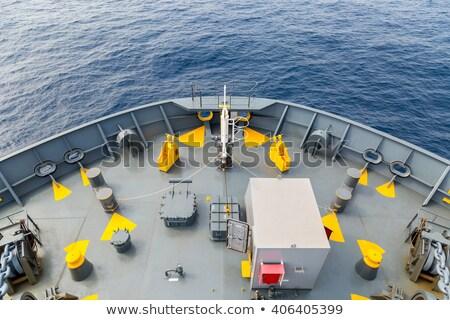 Navio cordas anexada água mar indústria Foto stock © vrvalerian
