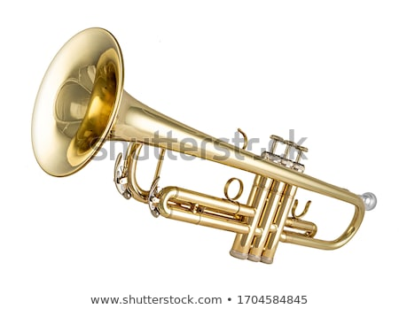 Trompet klasik müzik rüzgâr enstrüman beyaz müzik Stok fotoğraf © ddvs71