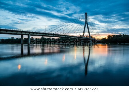 swietokrzyski bridge over the vistula river in warsaw stock photo © 5xinc