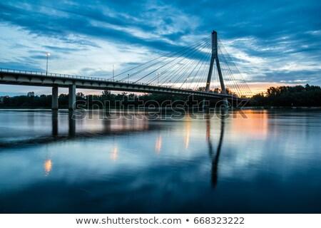 Brug rivier Warschau heilig kruis Polen Stockfoto © 5xinc