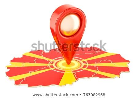 Geïsoleerd Macedonië kaart fiche pin web design Stockfoto © speedfighter