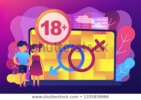 Adult content warning background design Stock photo © vipervxw