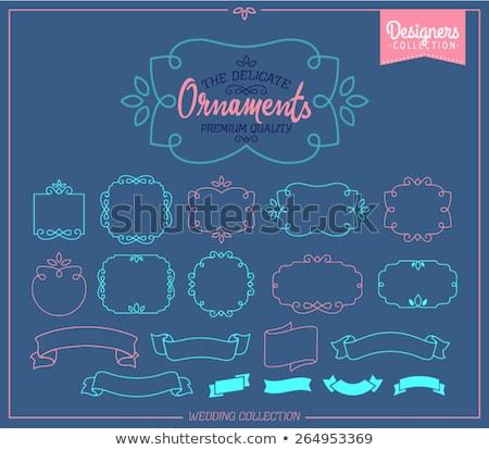 Simples gracioso monograma modelo de design elegante design de logotipo Foto stock © m_pavlov