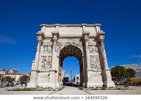Triumphal arc Porte  also known as Porte Royale in Marseille Stock photo © meinzahn