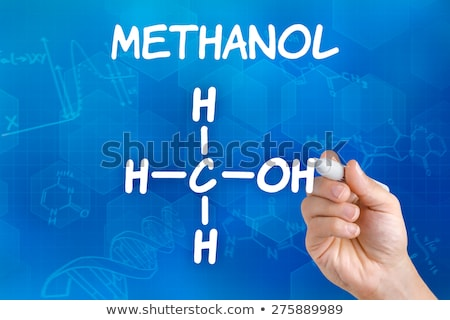 Hand with pen drawing the chemical formula of Methanol Stock photo © Zerbor