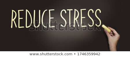 Relaxation or Stress written on a blackboard Stock photo © Zerbor