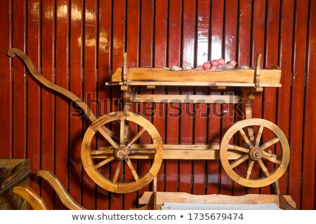 Old wooden Indian wagon for transportation Stock photo © mcherevan