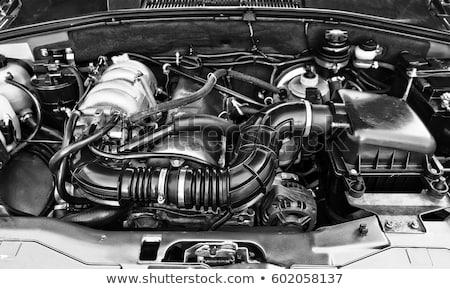 vecchio · motore · pistone · isolato · bianco · texture - foto d'archivio © cosma