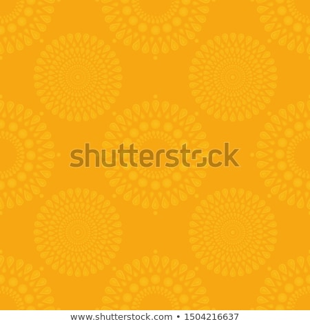 Stock photo: abstract golden diwali on yellow background