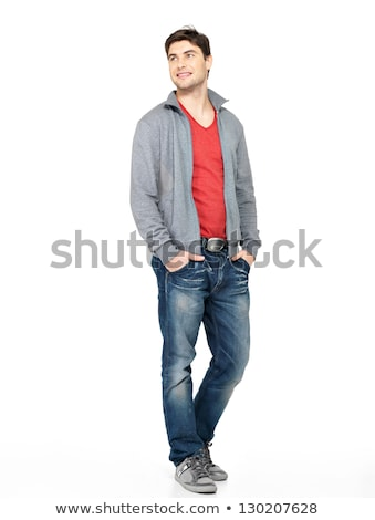 Muscular young man looking away Stock photo © deandrobot