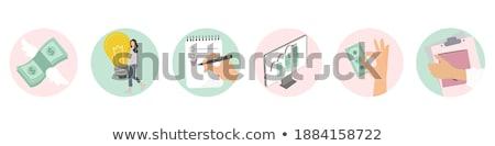 Irodai munka rózsaszín vektor gomb ikon terv Stock fotó © rizwanali3d