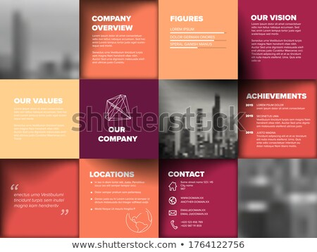 Company overview template Stock photo © orson