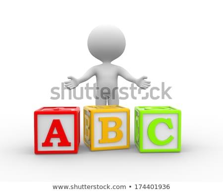3d · человек · белый · Top · угол · мнение · человека - Сток-фото © nithin_abraham