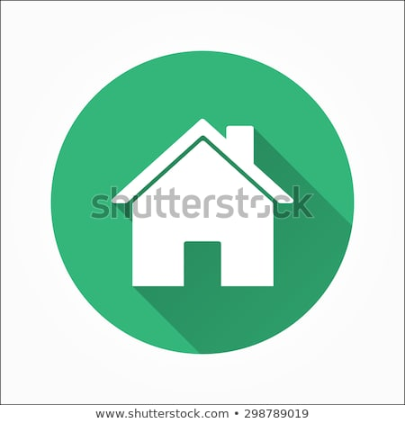 Casa círculo icono elemento diseno oficina Foto stock © blaskorizov