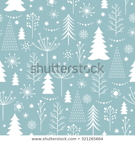 seamless pattern with blue and white christmas snowflakes on blu stock photo © bluelela