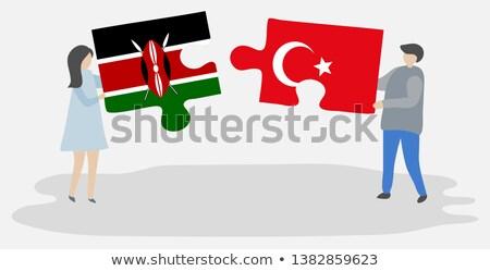 emberek · zászló · Kenya · izolált · fehér · megbeszélés - stock fotó © istanbul2009