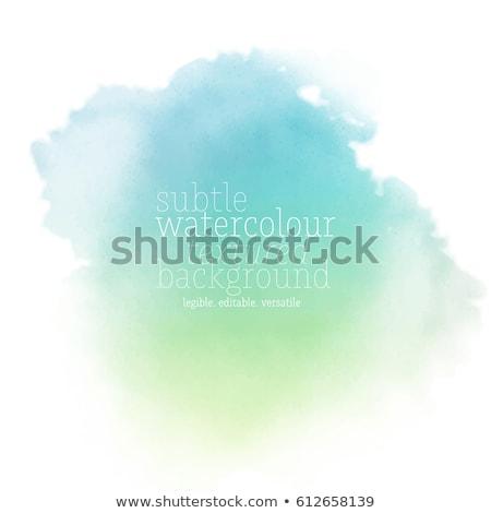 klassz · zöld · vízfesték · textúra · kéz · festék - stock fotó © sdmix