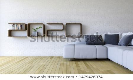 Simply set of wooden furniture Stock photo © nalinratphi
