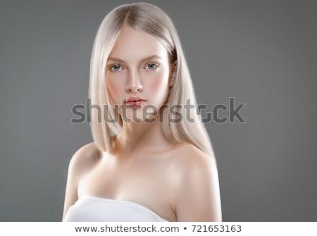 Vrouw mode geïsoleerd witte meisje model Stockfoto © Elnur