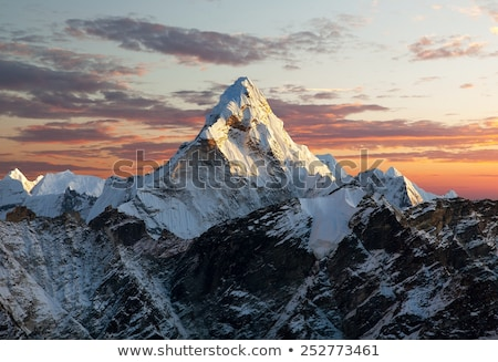 Avond bergen Nepal zuiden bos landschap Stockfoto © vapi