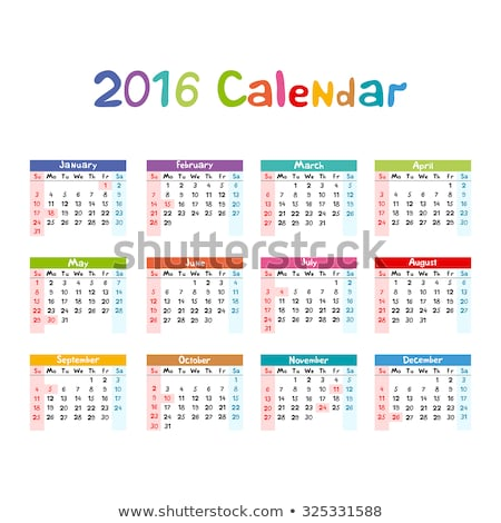 2016 Calendar - illustration vector kids hand made Stock photo © rommeo79