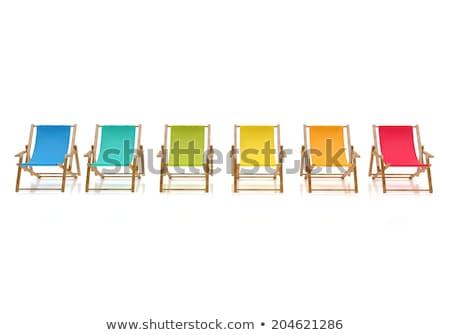Biały leżak basen skóry luksusowy willi Zdjęcia stock © jrstock