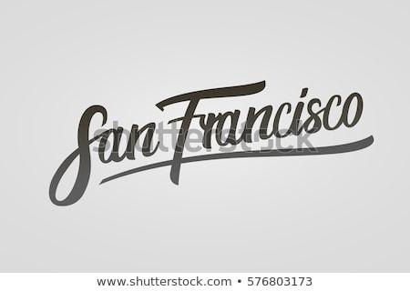 San Francisco texto pesado desenho animado nome cidade Foto stock © blamb