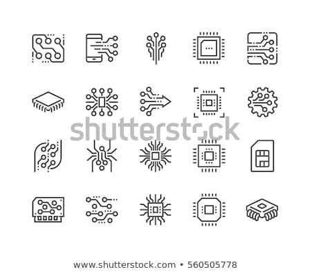 kártya · vonal · ikon · sarkok · háló · mobil - stock fotó © rastudio