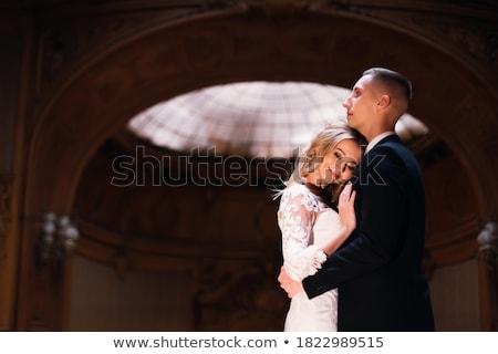 arco · vestido · de · novia · dama · de · honor · novia · boda · día - foto stock © artfotodima