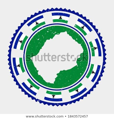 Pieczęć Pokaż banderą Lesotho grunge świat Zdjęcia stock © ojal